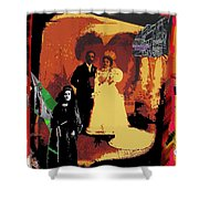 Hispanic Wedding Libertad Lady Photo Gallery Collage 1880-2010 Shower Curtain