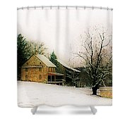 Historic 1700's Farmhouse Shower Curtain