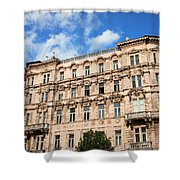 Historic Apartment House In Budapest Shower Curtain
