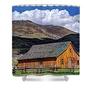 Historic Barn - Wasatch Front Shower Curtain