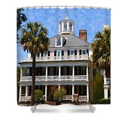 Historic Battery Home Shower Curtain