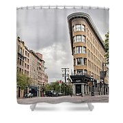Historic Buildings In Gastown Vancouver Bc Shower Curtain
