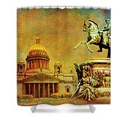 Historic Center Of Saint Petersburg Shower Curtain