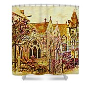 Historic Chruches St Louis Mo - Digital Effect 3 Shower Curtain