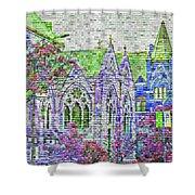 Historic Churches St Louis Mo - Digital Effect 4 Shower Curtain