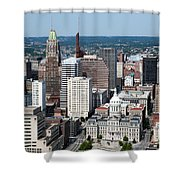 Historic City Centre Baltimore Shower Curtain