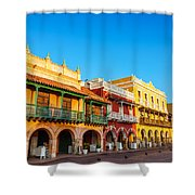 Historic Colonial Facades Shower Curtain