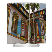 Historic Colorful Peranakan House 2 Shower Curtain