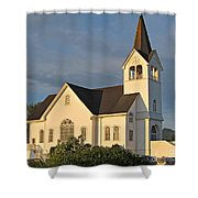Historic Country Church Art Prints Shower Curtain