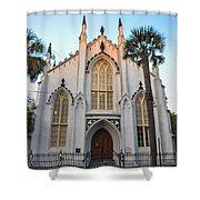 Historic Downtown Church Shower Curtain