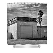 Historic Estrella Gas Station Desert Hot Springs Shower Curtain