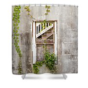 Historic Florida Building - Apalachicola Exchange Building Shower Curtain by Bill Swindaman