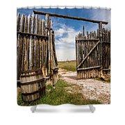 Historic Fort Bridger Gate - Wyoming Shower Curtain