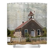 Historic Hinerville School  House  Shower Curtain