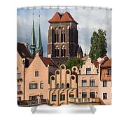 Historic Houses In Gdansk Shower Curtain