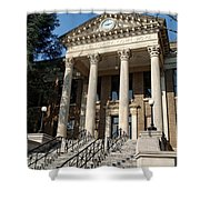 Historic Limestone County Courthouse In Athens Alabama Shower Curtain