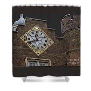 Historic London Clock Shower Curtain