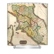 Historic Map Of Tuscany 1814 Shower Curtain