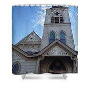 Historic Methodist Church Looking Up Shower Curtain