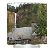 Historic Multnomah Falls Lodge Shower Curtain
