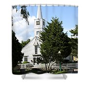 Historic Mystic Church - Connecticut Shower Curtain