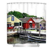 Historic Mystic Seaport Shower Curtain