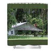 Historic Overstreet Homestead Kissimmee Florida Shower Curtain