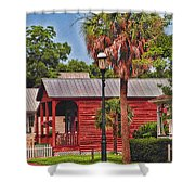 Historic Pensacola With Added Color Shower Curtain