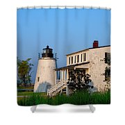 Historic Piney Point Lighthouse Shower Curtain