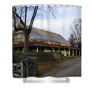 Historic Plymouth Meeting Friends Shower Curtain by Bill Cannon