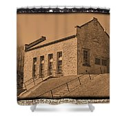 Historic Power Sepia Shower Curtain
