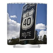 Historic Route Us 40 Sign Shower Curtain