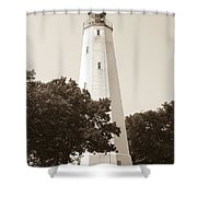 Historic Sandy Hook Lighthouse Shower Curtain