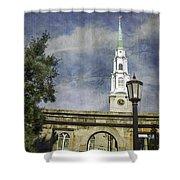 Historic Savannah Church Shower Curtain