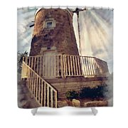 Historic Schonhoff Dutch Mill Shower Curtain