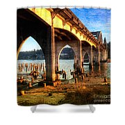 Historic Siuslaw River Bridge Shower Curtain