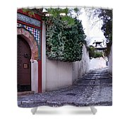 Historic Street At Albaycin In Granada' Shower Curtain