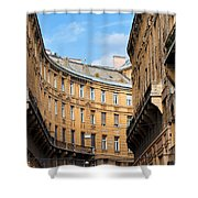 Historic Tenement Houses In Budapest Shower Curtain