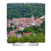 Historic Town Of Bakar In Green Forest Shower Curtain
