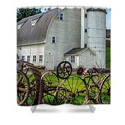 Historic Uniontown Washington Dairy Barn Shower Curtain