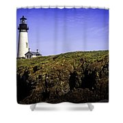 Historic Yaquina Lighthouse Shower Curtain