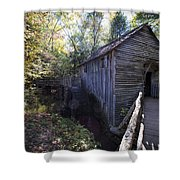 Historical 1868 Cades Cove Cable Mill Shower Curtain