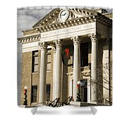 Historical Athens Alabama Courthouse Christmas Shower Curtain