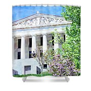 Historical Museum In Spring Shower Curtain