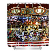 Historical Carousel In Tennessee Shower Curtain