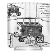 Historical Fire Engine 1728 Shower Curtain