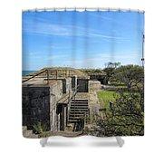 Historical Fort Wool Virginia Landmark Shower Curtain