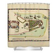 Historical Map Of Manhattan 1661 Shower Curtain
