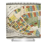 Historical Map Of Manhattan Shower Curtain