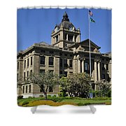 Historical Montesano Courthouse Shower Curtain